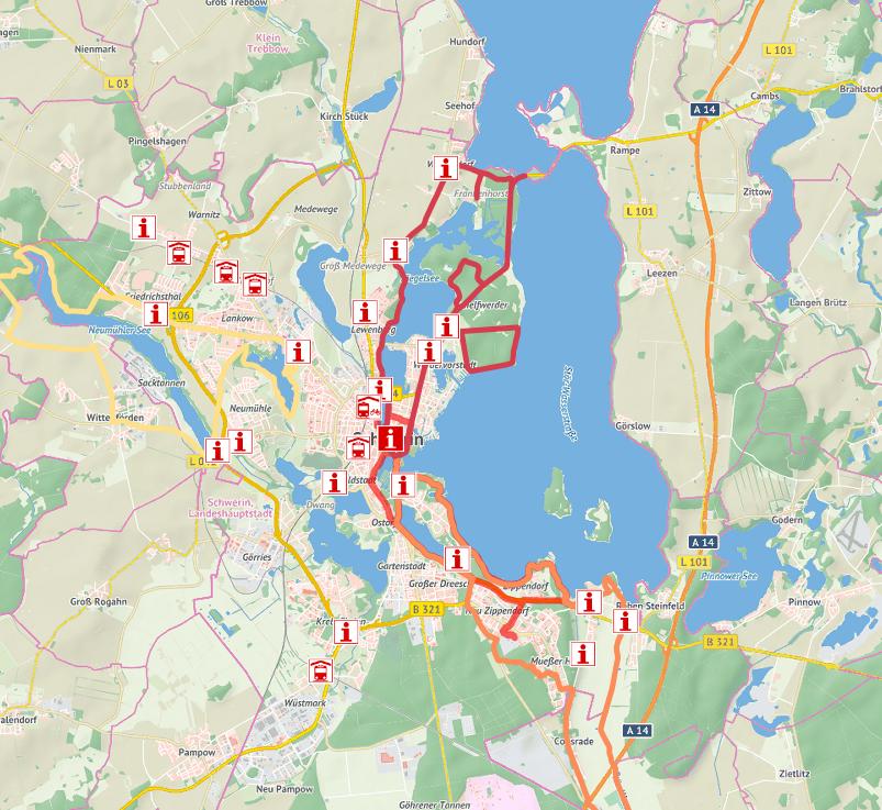Fahrrad Karte.Fahrrad App Bietet Radtouren In Und Um Schwerin An